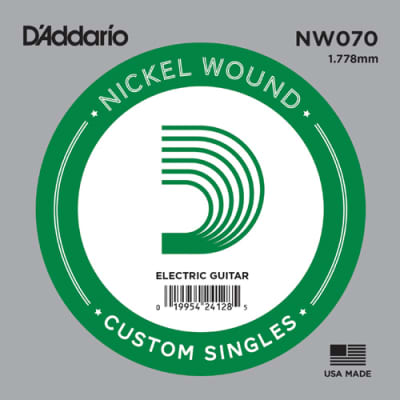 D'Addario NW070 Single Nickel Wound  Electric String.