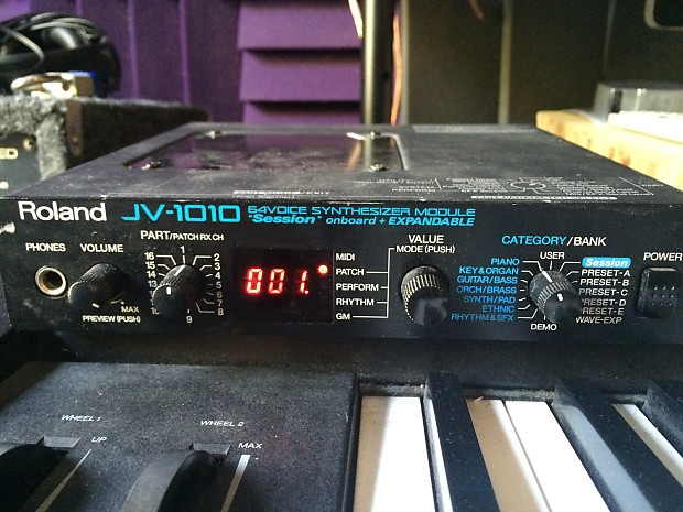 Roland JV 1010 Synthesizer Sound Module w/ Expansion