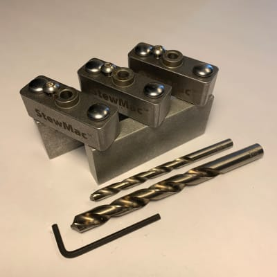 StewMac Classical/Steel String Tuner Drill Jig For Slotted Headstocks for sale
