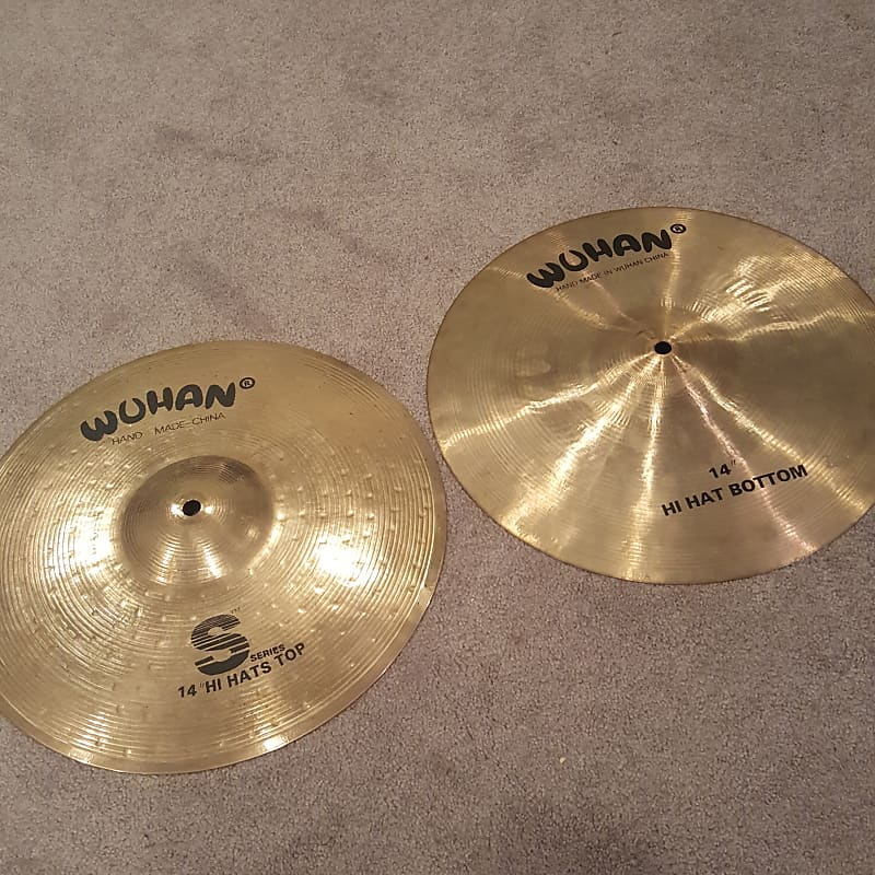 wuhan s series 14 hi hat cymbals 2000s the gear guys reverb