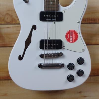 New Fender® Jim Adkins JA-90 Telecaster Thinline Semi Hollow Body Electric Guitar  White