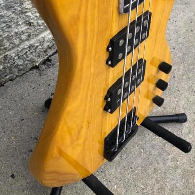 GAMMA Custom Bass Guitar H21-02, Kappa Model, Transparent Butterscotch Ash for sale