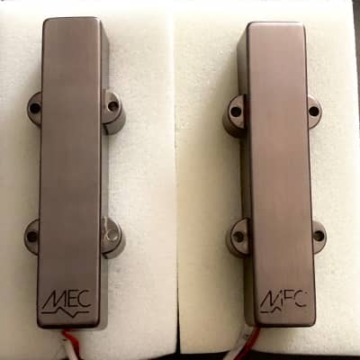 Warwick Custom Shop MEC Active Jazz Bass Pickups 4-string Set Brushed Black Chrome metal covers