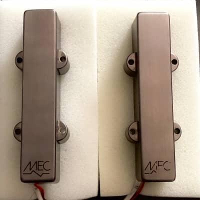Warwick Custom Shop MEC Active Jazz Bass Pickups 4-string Set Brushed Black Chrome metal covers
