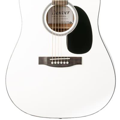 Denver DD44S-WHT Full Size Steel String - White for sale