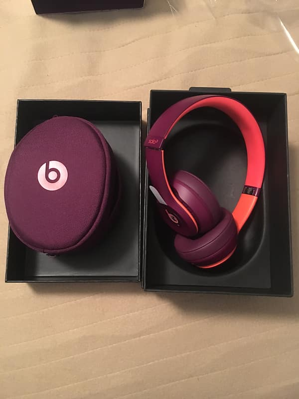 63eba024da4 Description; Shop Policies. Completely unused Beats Solo3 Wireless  Headphones by Dre in the Pop - Magenta Collection ...