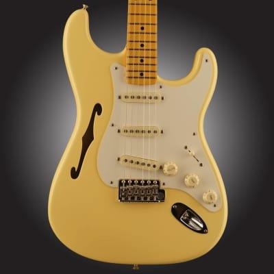Eric Johnson Thinline Stratocaster Maple Fingerboard Vintage White