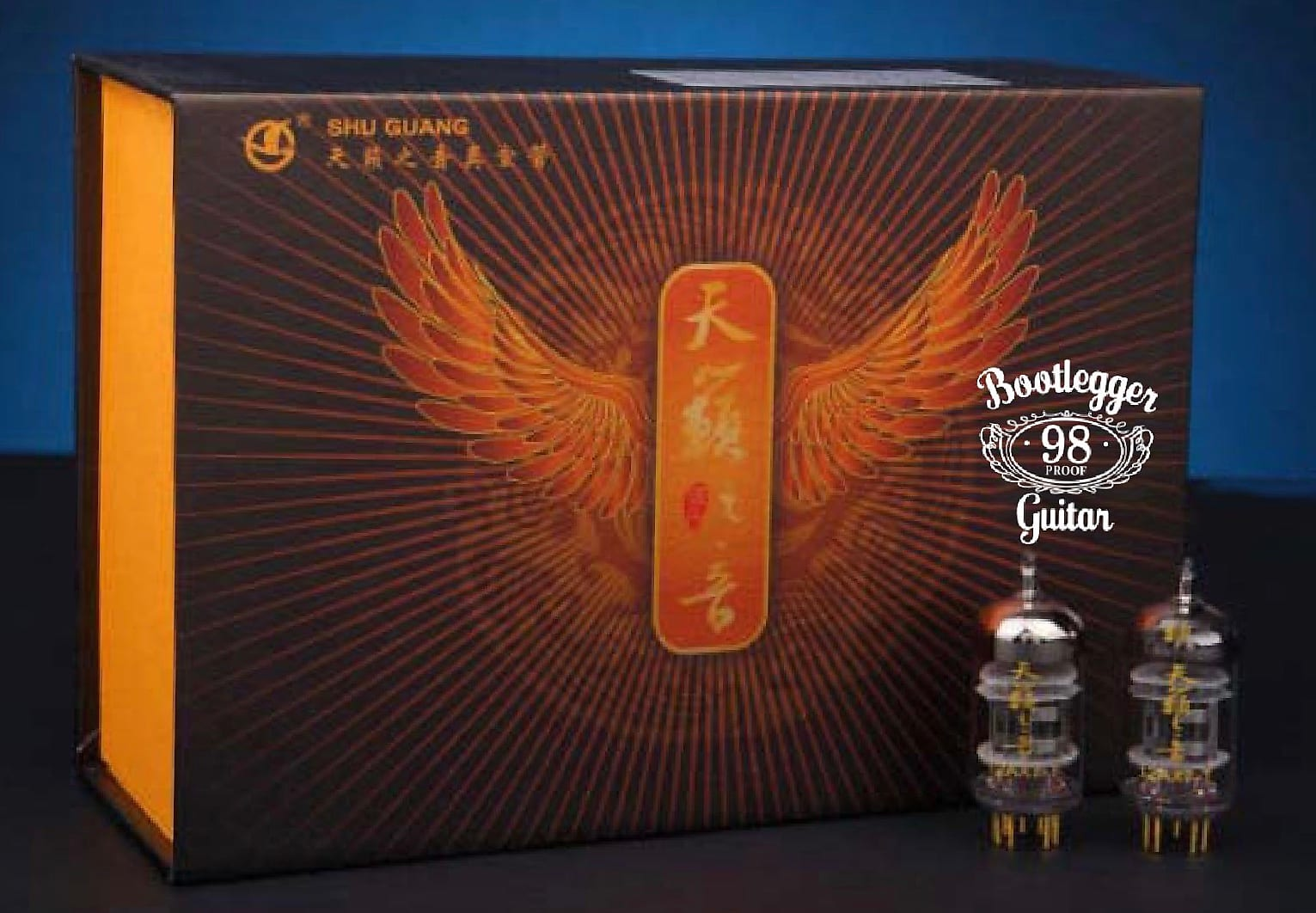 Bootlegger Guitar  Matched Set Gold Plated Nature Sound tube 12AT7-T Factory Matched Shu Guang
