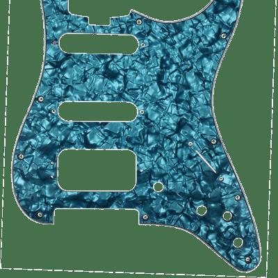 D'Andrea 4-Ply Stratocaster Pickguard HSS Aqua Pearl
