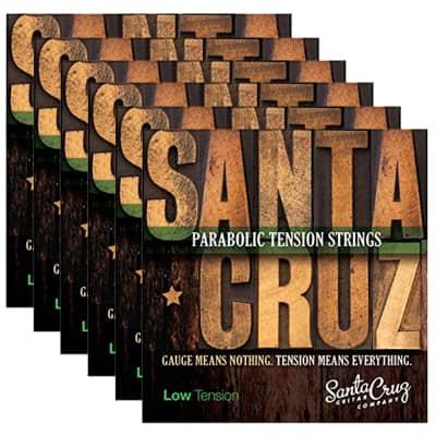 Santa Cruz Parabolic Tension Acoustic Guitar Strings Low Ten (6 Pack Bundle) image