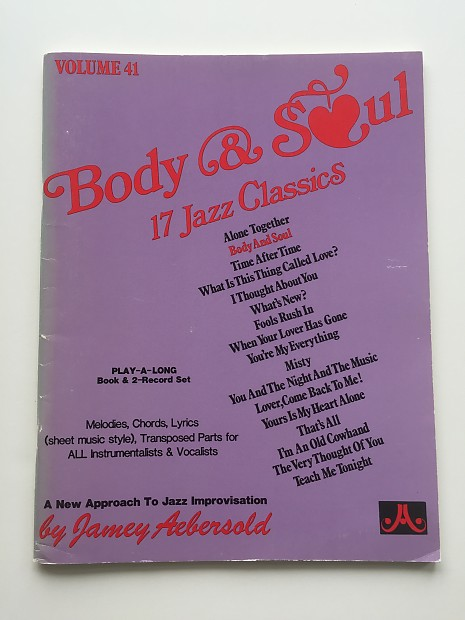 Jamey Aebersold Body And Soul Vol 41 Play A Long Reverb