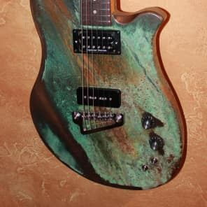Jam Guitars USA Roadster Custom guitar 2016 Bronze Metal Patina, Seymour Duncan, ashe & flame maple for sale