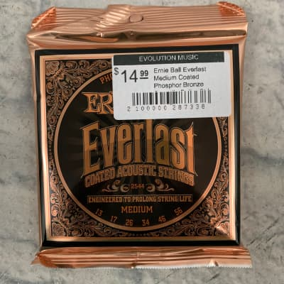 Ernie Ball Everlast Medium Coated Phosphor Bronze Acoustic Guitar Strings - 13-56 Gauge