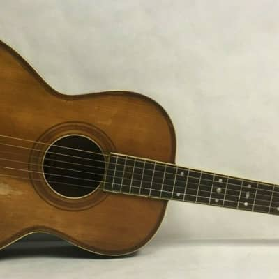 American Conservatory 1900's Lyon & Healy Washburn Parlor Acoustic Guitar Natural Finish Inlayral for sale