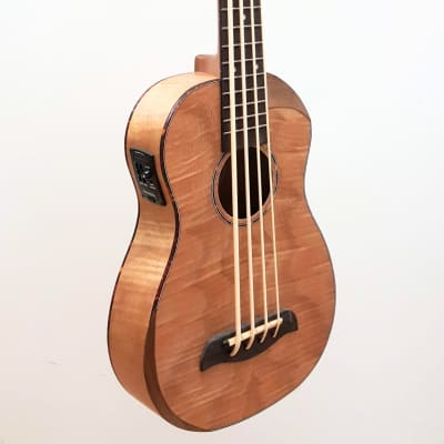 Oscar Schmidt OUB800K Acoustic-Electric Ukulele Bass, Flamed Maple body. Includes deluxe bag. for sale