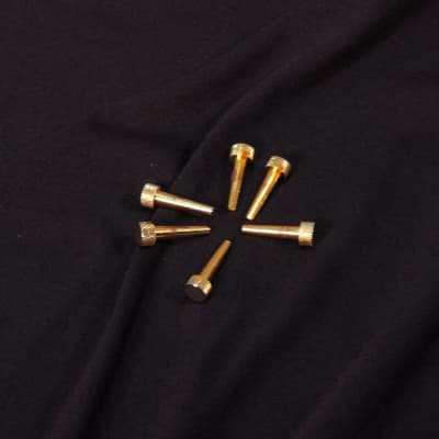 Used D'Andrea Tone Pins Set of 6 Gold