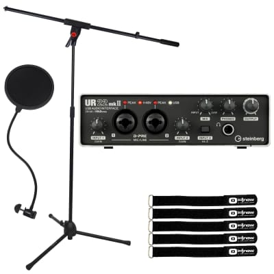 Steinberg UR22 MKII USB 2.0 Home Audio Recording Interface w Mic Stand