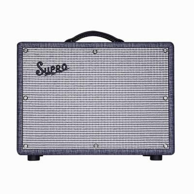 "Supro 1970RK Keeley Custom 25-Watt 1x10"" Guitar Combo, Blue Rhino"