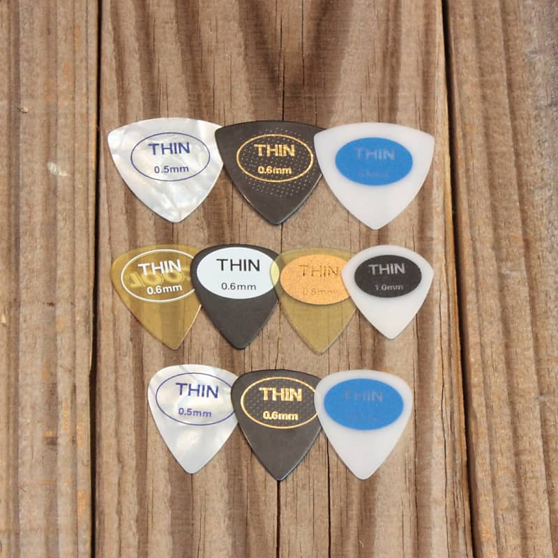 Cool Thin 351-Style Coolcell Rubberized Picku-Grip Set of 10 Picks