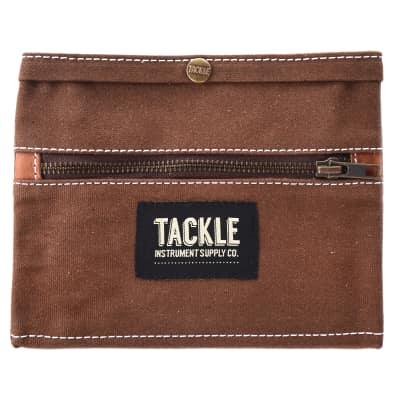 Tackle Waxed Canvas Gig Pouch Brown