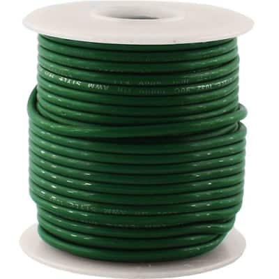 50 Foot Gauge Stranded Copper Wire, 600V, Green