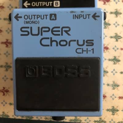 Boss CH-1 Super Chorus (Dark Gray Label) 2012-2014 Blue