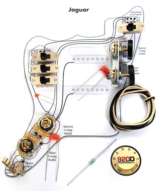 Fender Vintage  U0026 39 62 Jaguar Wiring Kit