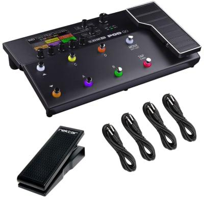 Line 6 POD GO Guitar Multi-Effects Processor, Nektar NX-P Pedal, (4) 1/4 Cables Bundle for sale