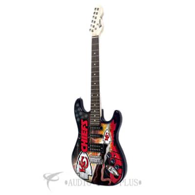 Woodrow Kansas City Chiefs Northender Rosewood Fingerboard Electric Guitar - NENFL16 - 771831012165 for sale