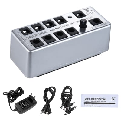 Guitar Effect Pedal Power Supply Station Distributor 9 Isolated DC Outputs for 9V 12-18V