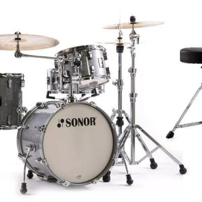 Sonor AQ2 Titanium Quartz Lacquer BOP 18x14_14x13_12x8_14x6 Drums +Throne Snare &HiHat Stand LIMITED