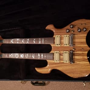 Lado Double Neck 1978-1980 Natural Zebra And Curly Maple for sale