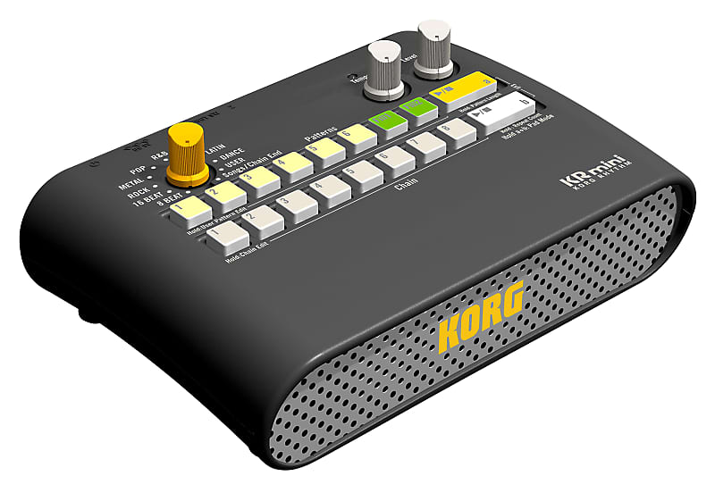 Korg KR Mini Compact Battery-Powered Rhythm Drum Machine w/ Speaker