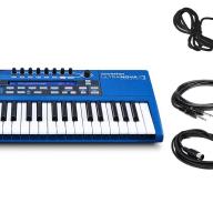 Novation Ultranova w/ Sustain Pedal, 2 Instrument & 2 MIDI Cables Bundle