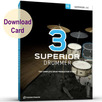 Toontrack Superior Drummer 3 - Virtual Instrument & Drum Production Plug-in -  Win/Mac Download Card