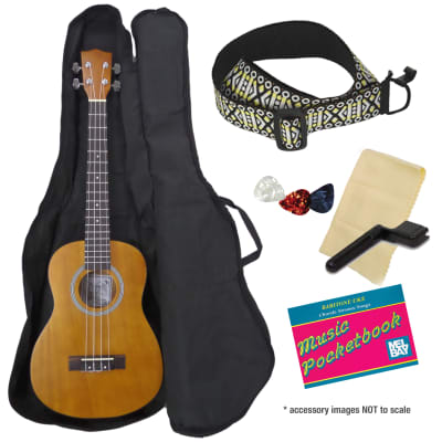 Kay BU10A-K Deluxe Baritone Ukulele Package-Bag, Picks, Instruction Booklet & Strap (Free Shipping) for sale