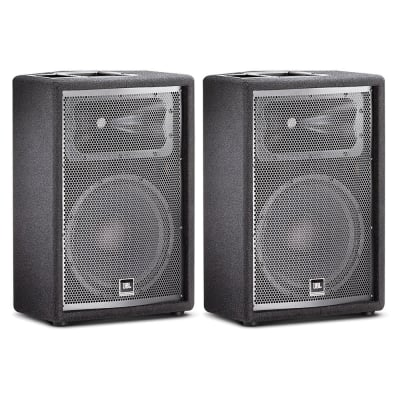 "JBL JRX212 12"" Two-Way Passive Live Stage Monitor Loudspeaker DJ PA System Pair"