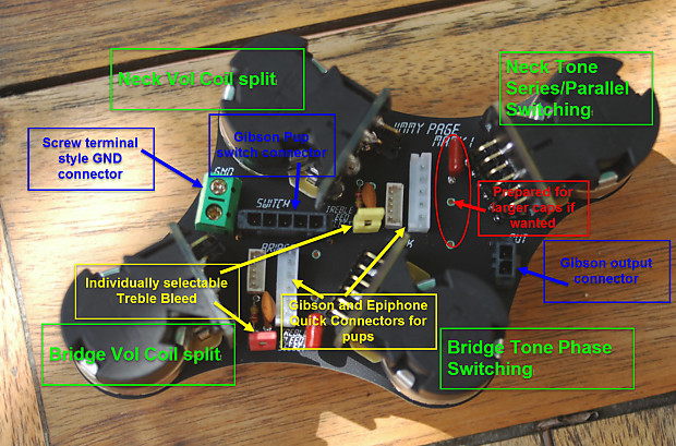 New product - Control PCB for Epiphone /Gibson Les Paul - Jimmy Page on