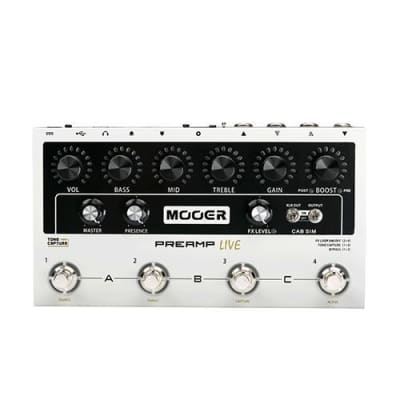 Mooer PREAMP LIVE Amp Modeling Pedal w/ Tone Capture