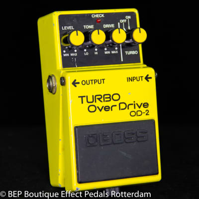 Boss OD-2 Turbo Overdrive 1988 s/n 902281 Japan as used by The Edge of U2, Johnny Marr, Prince.