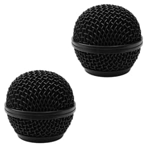 Seismic Audio SA-M30Grille-BLACK-2PACK Replacement Steel Mesh Mic Grill Heads (2-Pack)
