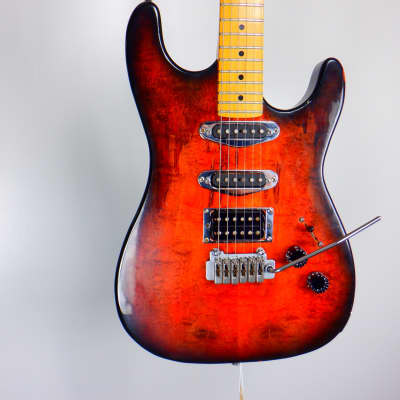 Used Rahan Double Cut Electric Guitar, Wood Finish for sale