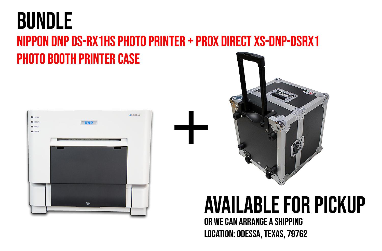 Nippon DNP DS-RX1HS Photo Printer (DSRX1HS) + ProX Direct XS-DNP-DSRX1 Photo Booth Printer Case