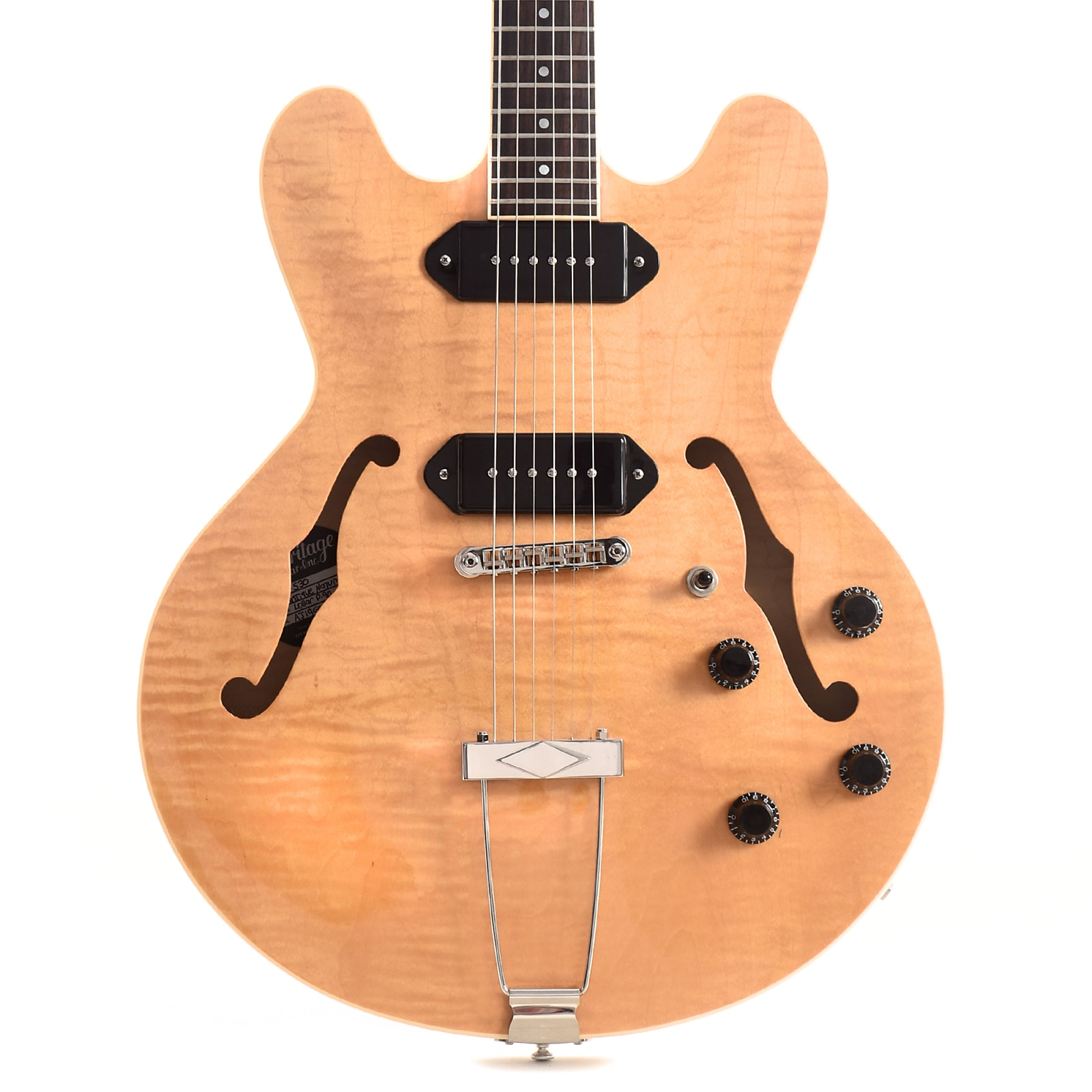 Heritage H-530 Hollow Body Antique Natural (Serial# AJ19605)