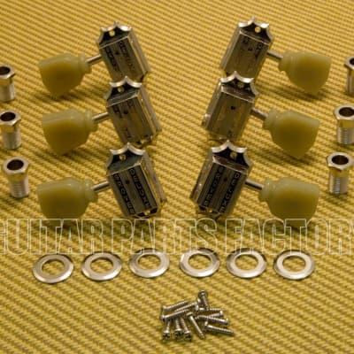 135N Grover Nickel Deluxe 3+3 Keystone Guitar Tuners