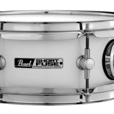 """Pearl Short Fuse 10""""x4.5"""" Snare w/Mount and Clamp - Pure White"""