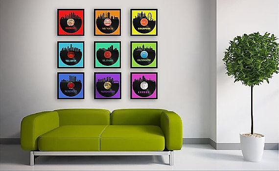 Auburn University Vinyl Wall Art - Silver / Framed | Reverb