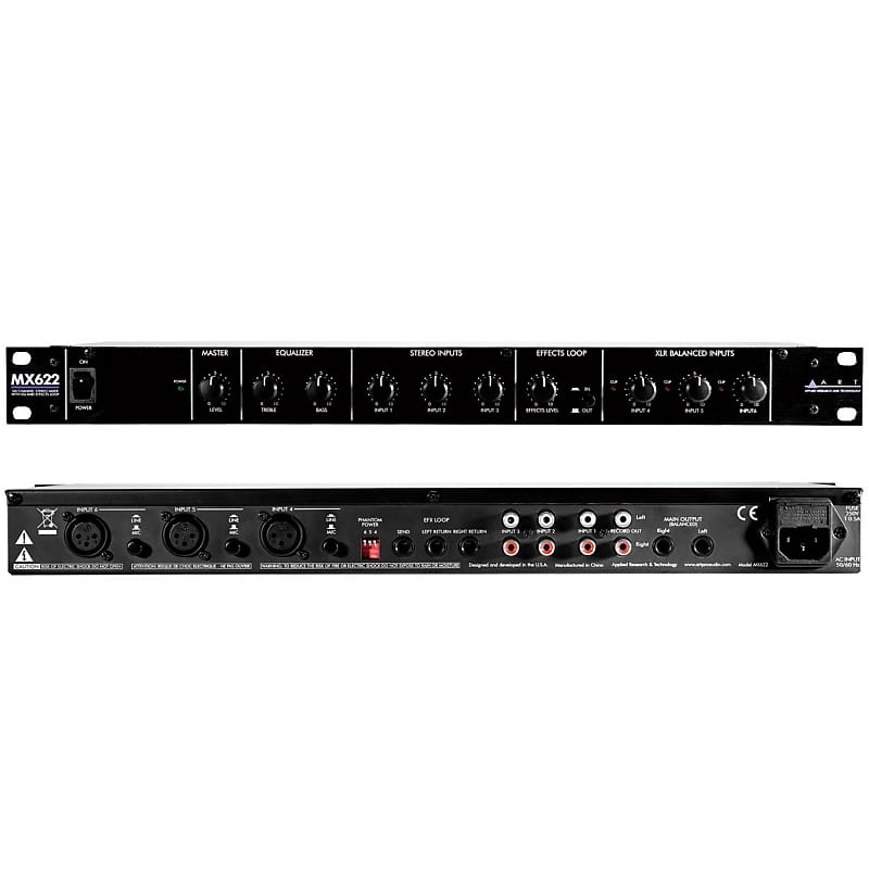 art mx622 6 channel rackmount stereo line mixer reverb. Black Bedroom Furniture Sets. Home Design Ideas