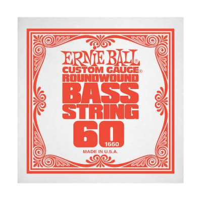 Ernie Ball 1660 60 Roundwound Bass Single String
