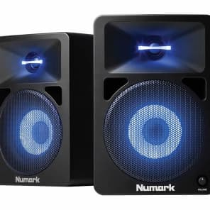 Numark N-Wave 580L Powered DJ Monitors w/ Lights (Pair)